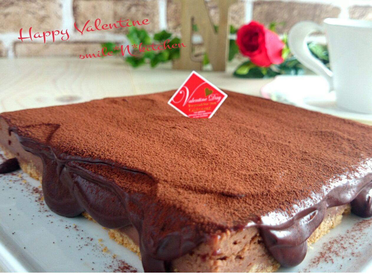 チョコチーズケーキ♥バレンタインチョコケーキ SnapDish 料理カメラ