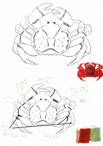 デザイン蟹