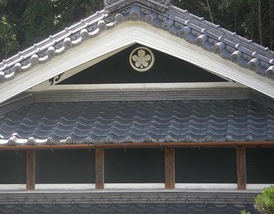 旧家の家紋「丸に立ち梶の葉」紋