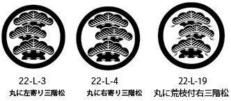 松家紋3種