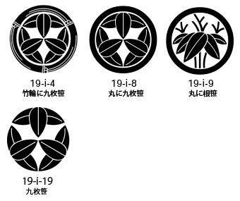 笹紋の一例