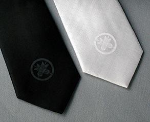 丸に違い矢-家紋ネクタイ