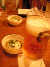 ビール&豆腐