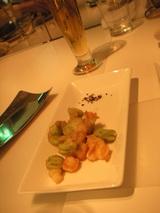 空豆とモッツアレラのフリット