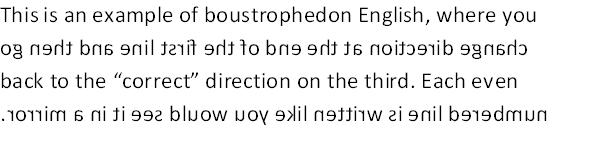 boustrophedon-english
