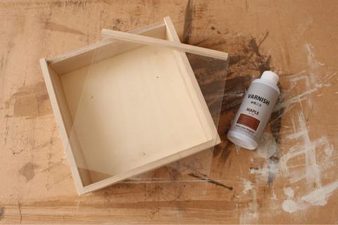 木製ディスプレイボックス正方形L キャンドゥ