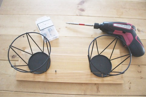 スチール植木鉢カバー 飾り棚 簡単DIY ダイソー