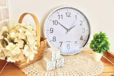 ウォールクロック ダイソー 漆喰塗料 時計リメイクウォー