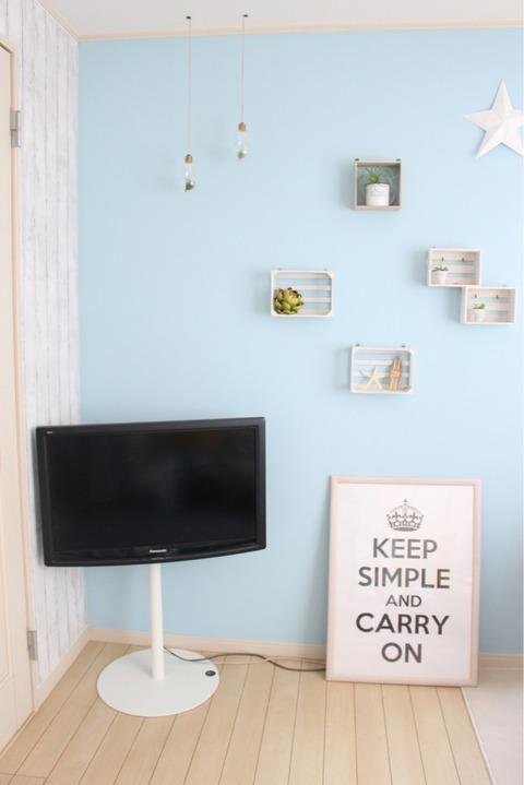 WALL TV STAND 息子部屋 壁掛けスタンド テレビボード