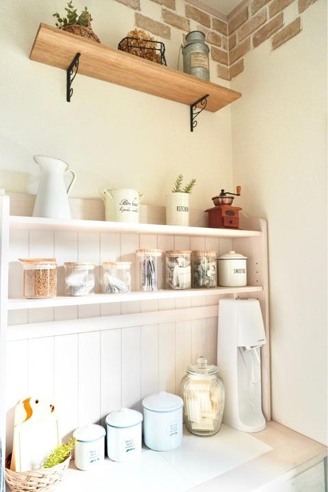 木の蓋キャニスター キッチン収納 カップボード 見せる収納