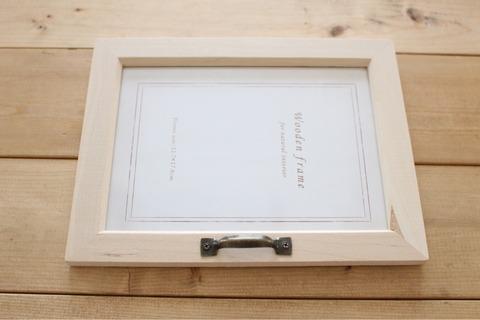 キーボックス木箱リメイクフォトフレームリメイクセリアワッツ