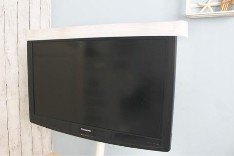 テレビリメイク ウォールラインステッカー テレビスタンド セリア