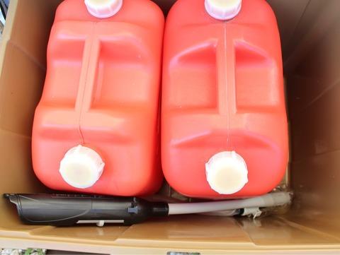 灯油缶 自動ポンプ ベランダコンテナ