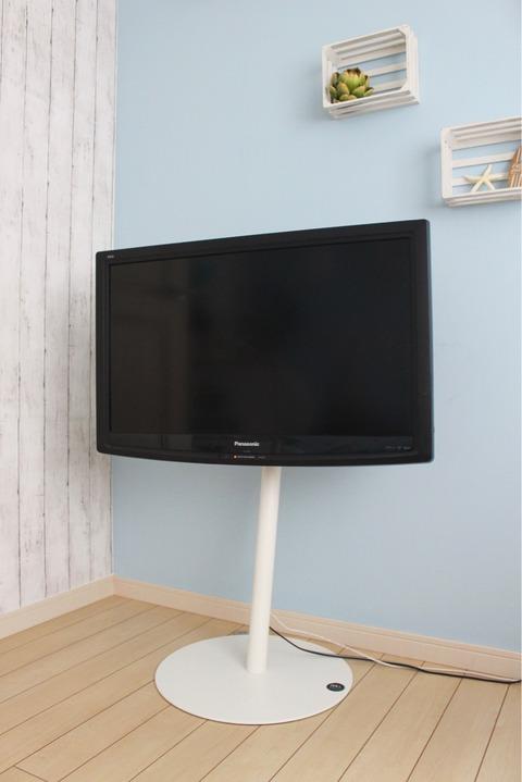 テレビスタンド ウォールラインステッカー セリア テレビリメイク