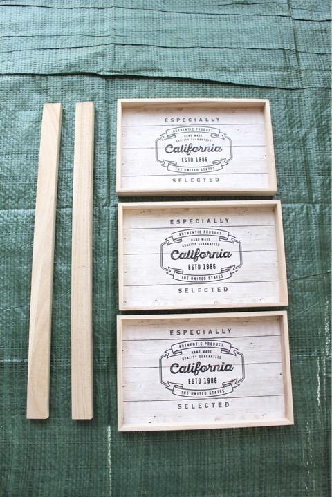 木製インテリアトレー ダイソーセリア 簡単DIY