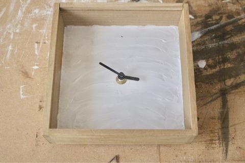 漆喰壁掛け時計 100均リメイク DIY