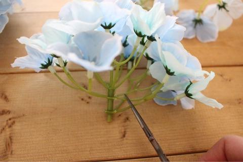 紫陽花リース フェイクグリーン フェイクフラワー ダイソー