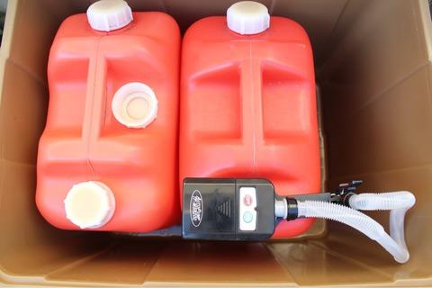 自動停止ポンプ薄型直付けタイプ 灯油缶 よごれま栓