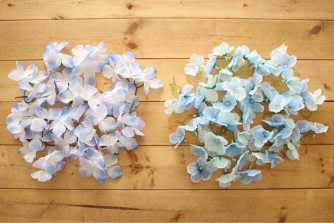 紫陽花リース ダイソー フェイクグリーンフェイクフラワー
