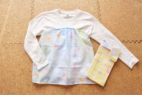 ダイソー手ぬぐいリメイク Tシャツ 子供服