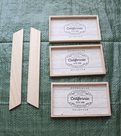 簡単DIY ダイソーセリア 木製インテリアトレー グルーガン