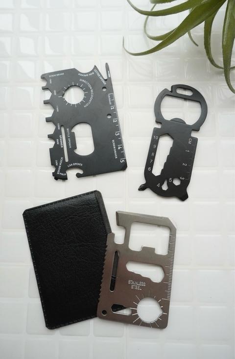 防災グッズ マルチツール カード型 ダイソー セリアパラコード