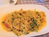 蟹と野菜の炒め物