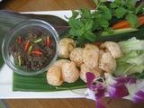ナンプリックガビとハーブ、野菜盛り
