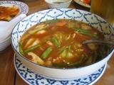 トムヤムポーテーック(シーフードとバジルのスパイシースープ)