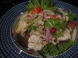 タイのキノコのサラダ