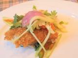 魚のフライとソムタム