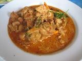 イノシシ肉の辛い炒め物
