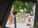 3種のシーフードとタイハーブのサラダ