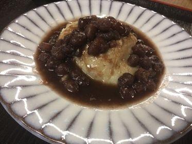 蕎麦掻ぜんざい (2)