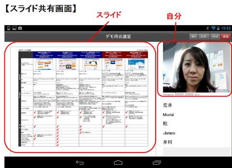 Androidスライド画像