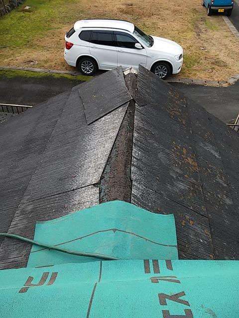 20160106_屋根修理途中