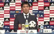 日本代表メンバー 発表記者会見をする森保監督
