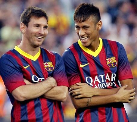 現代サッカー最高のドリブルをするメッシとネイマールをうまく表現したったw