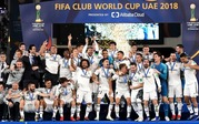 クラブワールドカップ3連覇を達成し喜ぶレアルの選手達