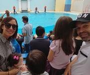水族館で楽しむイニエスタと家族