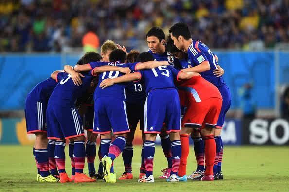 ブラジルW杯日本円陣