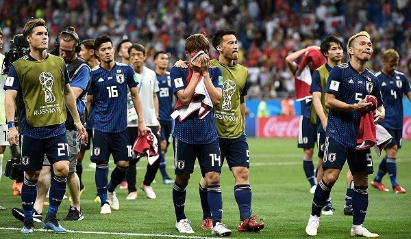 ベルギー戦に敗れた日本代表の選手達