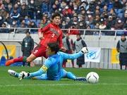 青森山田選でハットトリックを記録した尚志高FW染野