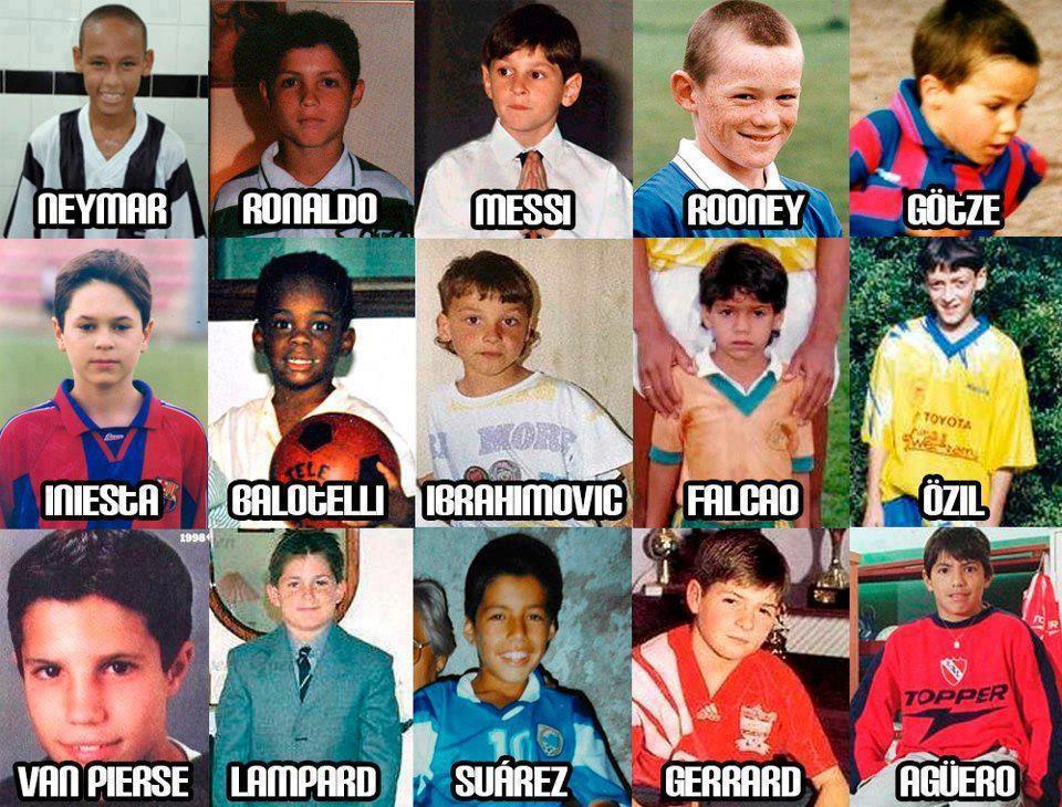 【画像】サッカー名選手の幼少時 ... ルーニーがヤバいwww