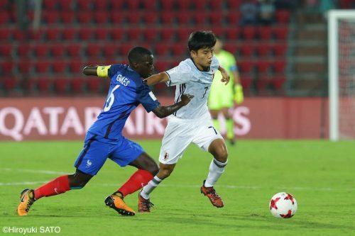 U17日本、フランスに敗れ1勝1敗で最終節へ