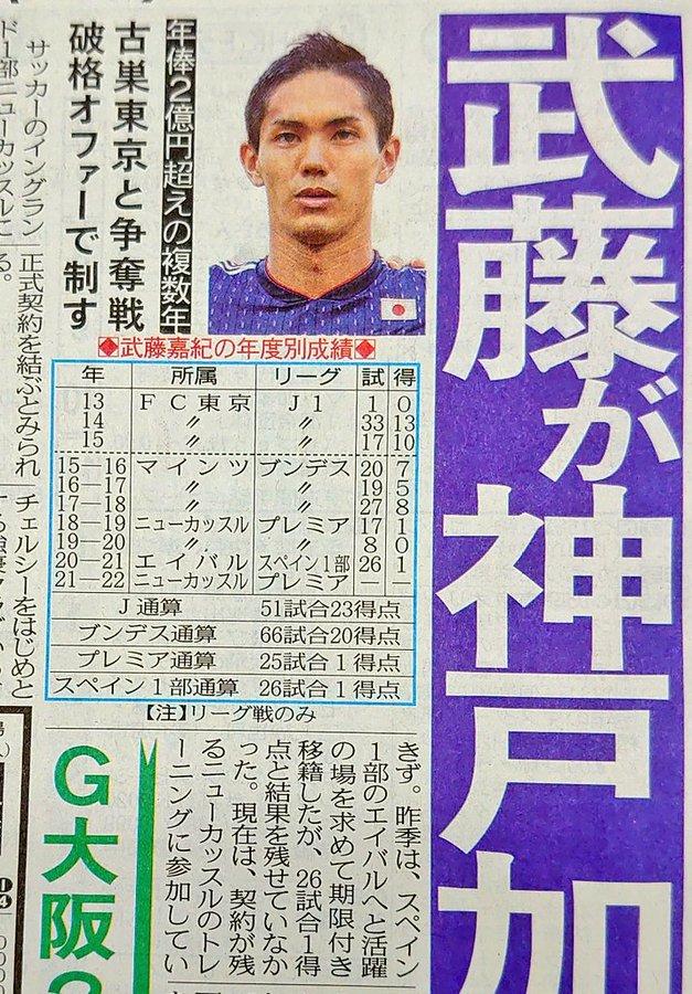 【悲報】武藤嘉紀、古巣FC東京じゃなくヴィッセル神戸移籍へwwwwwww
