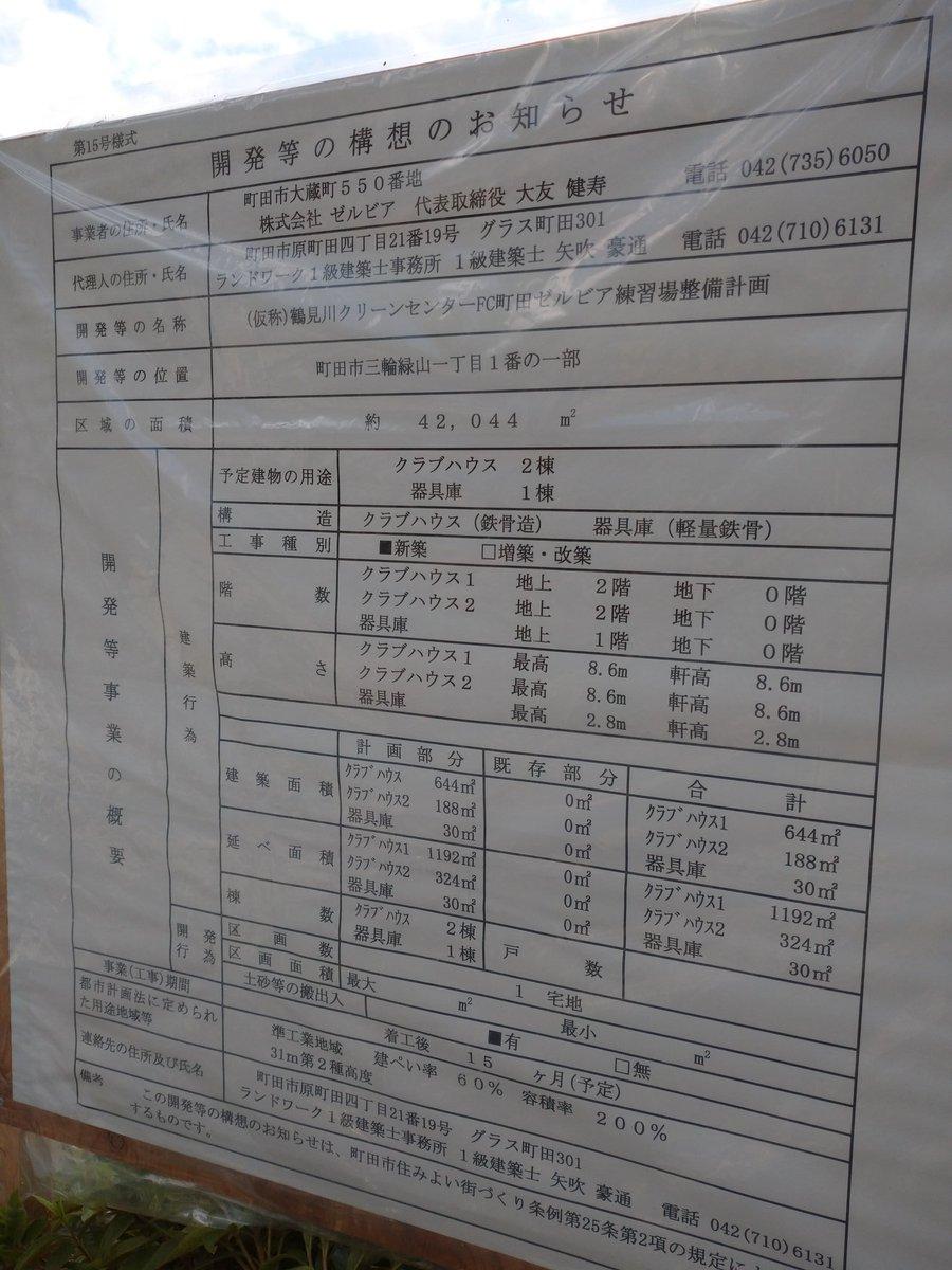 ◆朗報◆町田ゼルビア、クラブハウス建設開始!