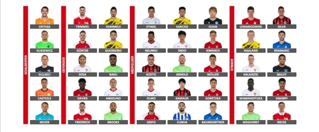 ブンデスリーガで3人の日本人選手が年間ベストイレブンに選出される。これもう全盛期だろ