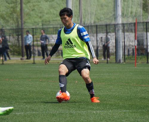 【横浜M】柏戦に向けミニゲーム、U―20MF遠藤も合流