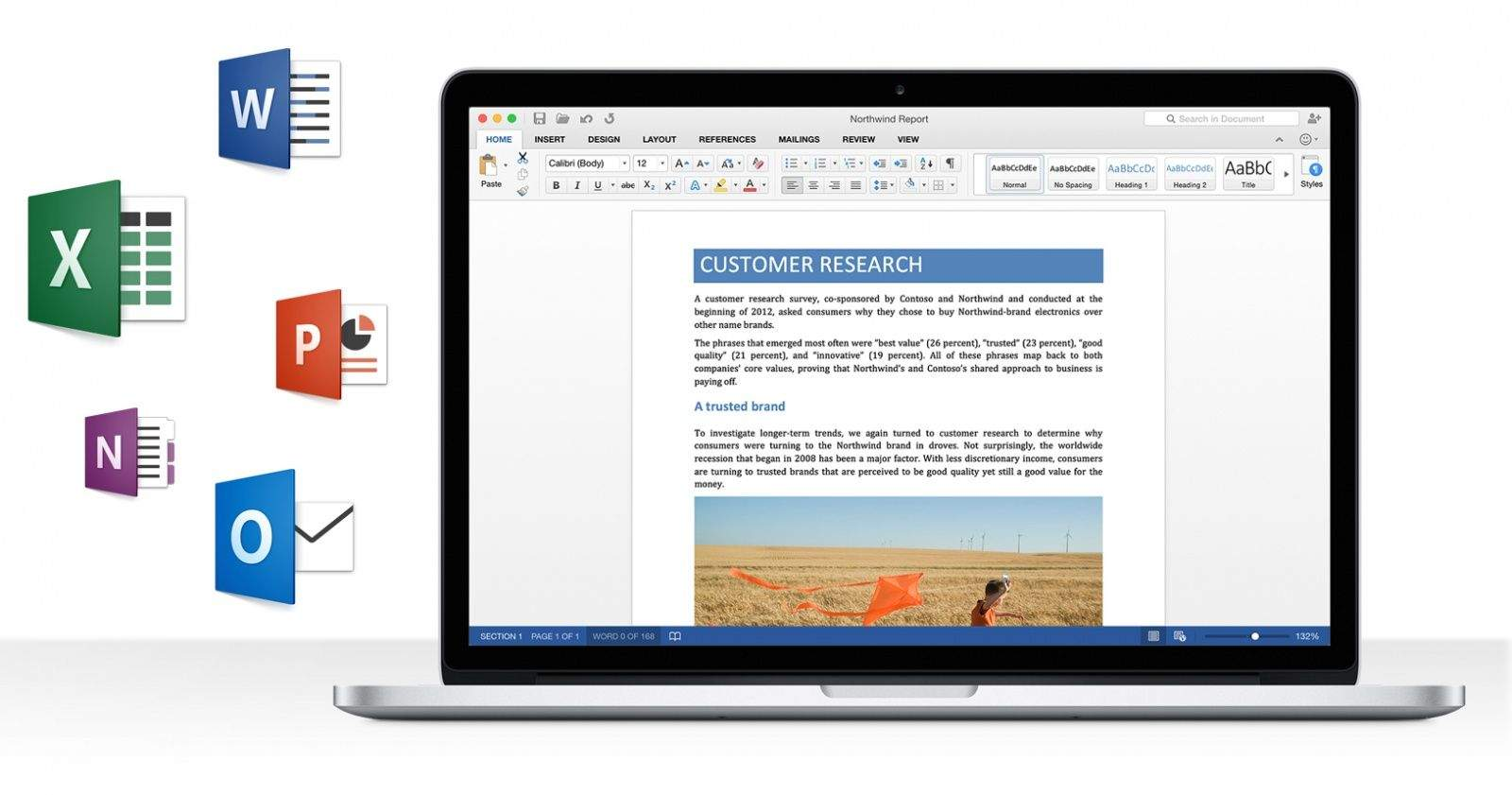 Microsoft Office 2016 for Mac--Retinaを完全サポート